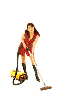 Free Woman With Cleaner Stock Photos - 4305623