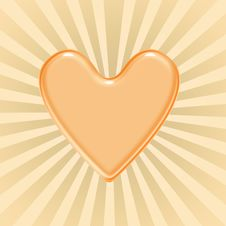 Free Orange Heart Stock Photo - 4305650