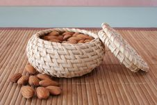 Free Almonds In The Basket Royalty Free Stock Images - 4306169
