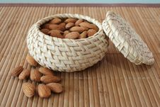 Free Almonds In The Basket Royalty Free Stock Image - 4306276