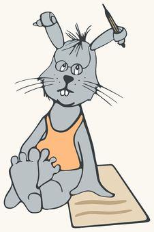 Free Bunny The Poet Stock Photos - 4306283