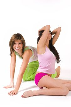 Free Two Girls In Underwear Royalty Free Stock Photography - 4308037
