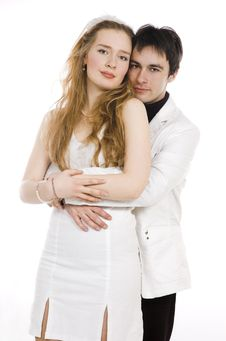 Free The Pair  In White Clothes Royalty Free Stock Images - 4308089