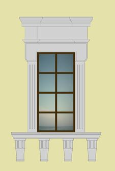 Free Neoclassical Window 2 Royalty Free Stock Images - 4308889