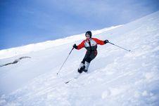 Free The Girl On Skis Royalty Free Stock Photo - 4309745