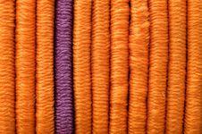 Free One Lilac And Many Orange Elastics Stock Photography - 4309972