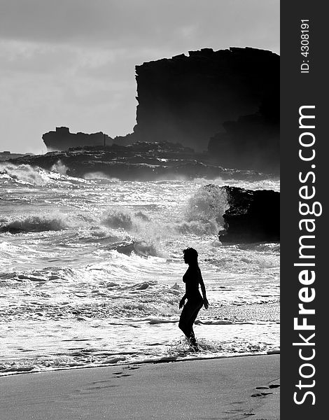 Woman at Sandy Beach