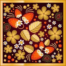 Free Beautiful Pattern In The Style Of Khokhloma Stock Photo - 43092090