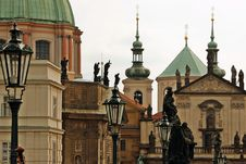 Golden City Prague Sightseeing Stock Photos