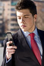 Free Businessman At Phone Royalty Free Stock Photography - 4310257