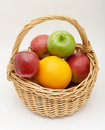 Free Fresh Fruits In The Basket Royalty Free Stock Images - 4314329
