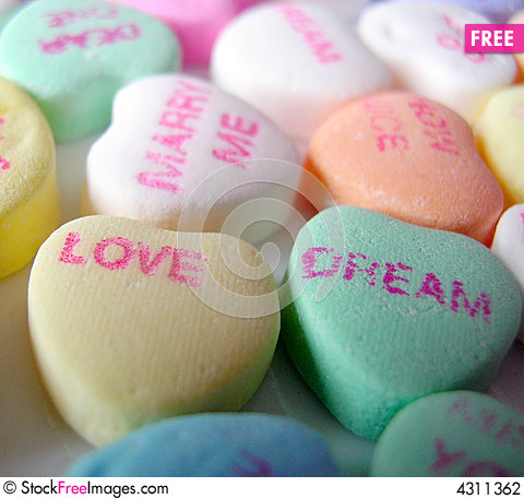 Free Conversation Hearts Group Stock Photography - 4311362