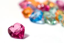 Free One Magenta And Colored Hearts Stock Photo - 4310010