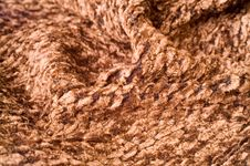 Free Brown Fabric With Folds Royalty Free Stock Images - 4310019