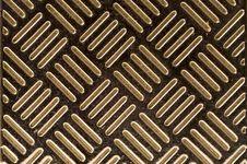 Diagonal Stripes On Metal Stock Image