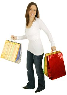 Free Shopping Girl Stock Photo - 4310070
