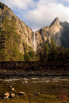 Bridal Veils Fall, Yosemite National Park Stock Photography