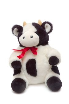 White Cow Toy Stock Photos