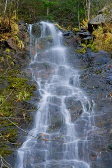 Free Waterfall In The Mountains Stock Image - 4310351