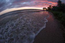 Free Sea Sunset Fisheye View Royalty Free Stock Image - 4310356