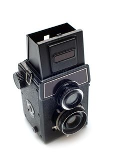 Old Soviet Medium Format Camera Stock Photo