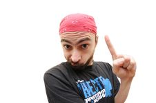 Free Caucasian Bearded Man Gesturing Royalty Free Stock Images - 4310449