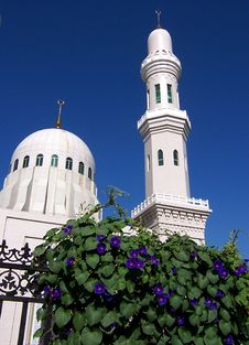 Free Purple Flower And Mosque Royalty Free Stock Photo - 4310645