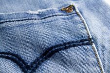 Free Blue Jeans Close Up Royalty Free Stock Photography - 4311147
