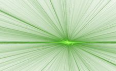 Glowing Point Green On White Stock Images