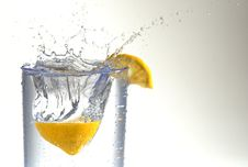 Lemon Drops In Water. Stock Images