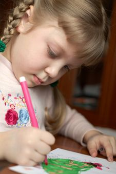 Free Drawing Girl Royalty Free Stock Photography - 4311597