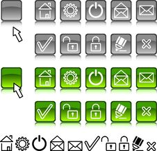 Free Set Of Web Icons. Stock Images - 4311664