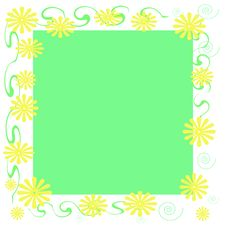 Yellow Daisy Frame Stock Photo