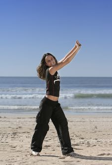 Free Woman Stretching Royalty Free Stock Photo - 4312035