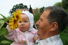 Free Grandfather And Granddaughter Stock Photography - 4312302