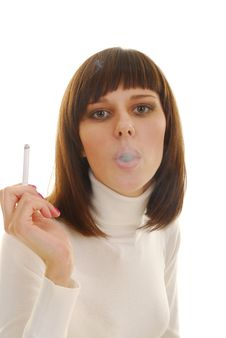 Free Portrait Of Woman With Cigarette Royalty Free Stock Photo - 4312395