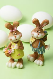 Free Easter Bunnies Stock Photography - 4312542