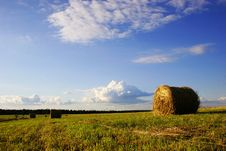 Free Haystack On A Field Stock Images - 4312944
