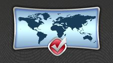 Free World Map Royalty Free Stock Photography - 4313167