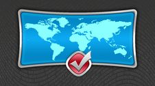 Free World Map Stock Photography - 4313172