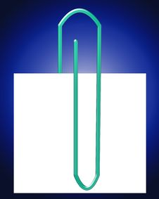 Free Paperclip With Note 11 Royalty Free Stock Image - 4314516