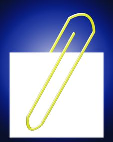 Free Paperclip With Note 15 Stock Image - 4314531