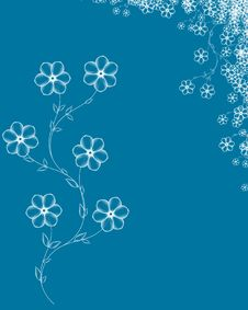 Free Blue Floral Background Royalty Free Stock Photos - 4314578