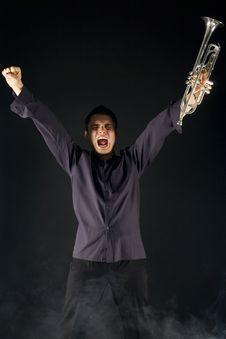 Screaming Trumpeter Stock Photography