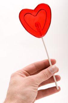 Free Love - Heart Shape Lollipop Stock Image - 4315771
