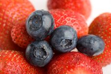 Free Background From Strawberries And Blueberry Stock Photography - 4315922