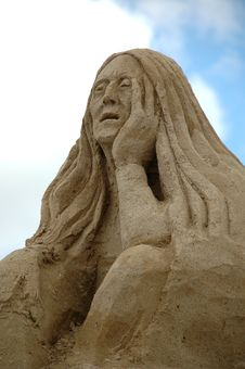 Free Sad Sand Woman Stock Images - 4316124