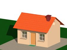 Free Individual House 3d Stock Photography - 4316222