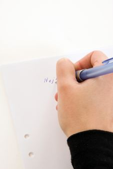 Free Writing A Message Royalty Free Stock Photography - 4316657