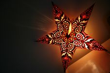 Free Indian Star-shaped Lamp Stock Photo - 4316720